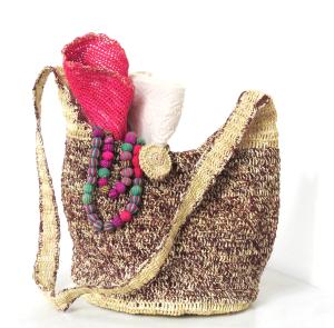 Paja Toquilla Crochet Bag - Contrast Two Tone