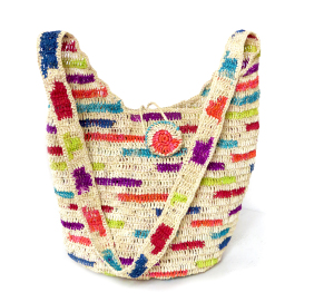 Paja Toquilla Crochet Bag - Natural & Colors