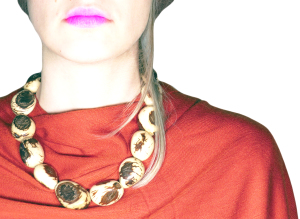 Tagua Necklace - Scratched Seeds