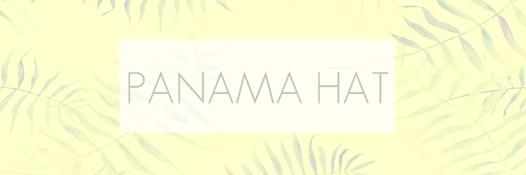 PANAMA HAT - COLORES DE SUDAMERICA