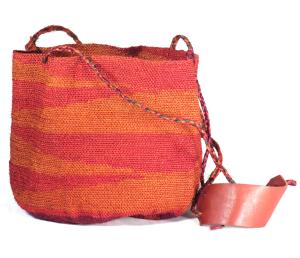 Shigra Bag - Orange & Red