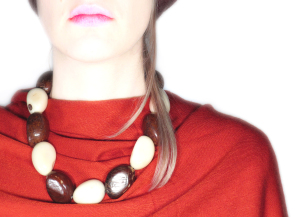 Tagua Necklace - B&W Seeds