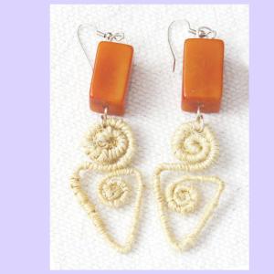Earrings/FPCDS  CABUYA & ORANGE TAGUA